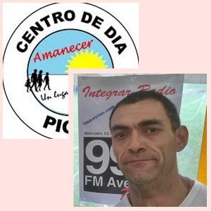 """Sebastian Vaca y El Centro de Dia """"Amanecer"""" de Pigüé"""