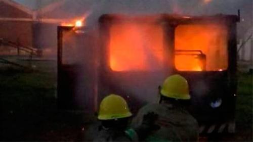 Se incendió una locomotora en cercanías de Sierra de la Ventana