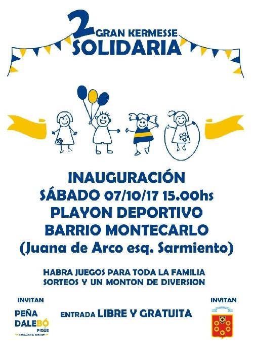 Inauguran playon deportivo en Barrio Montecarlo