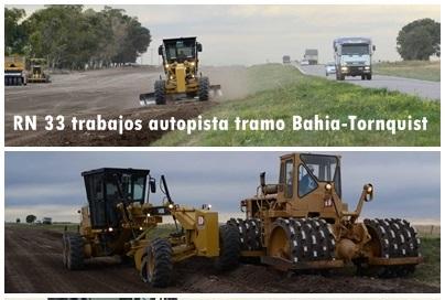 Avanzan los trabajos para convertir en autopista el tramo Bahia -Tornquist de la Ruta Nacional 33