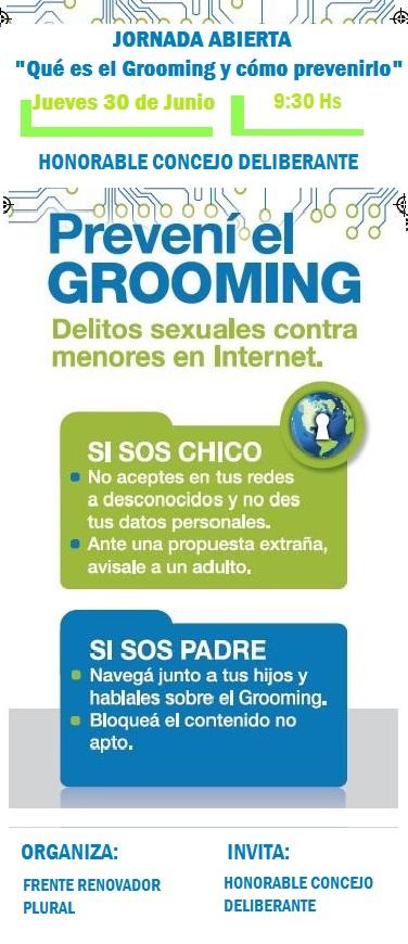 """Jornada Abierta """"Qué es el Grooming y cómo prevenirlo"""" con la ONG """"Mamá en línea"""""""