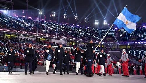 Argentina desfiló en la apertura de los JJOO de Pyeongchang 2018 en Corea del Sur