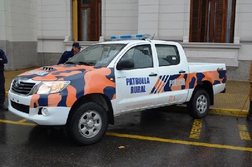 Puan recibe nuevo vehículo policial