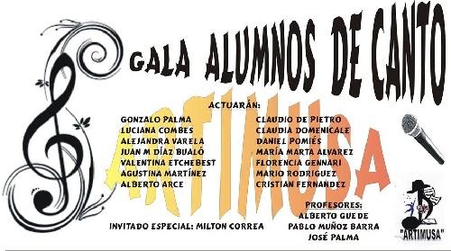Artimusa y sus alumnos de canto en el Teatro Español