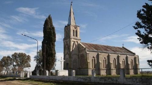 Temporal destruye el campanario de la Iglesia en Gascón