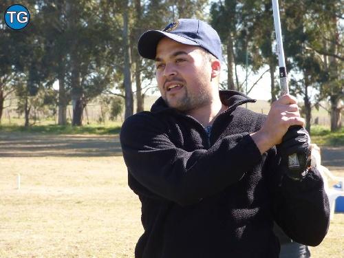 Matías Decaso y Alejandro Moggia,  ganadores en el Pigüé Golf.