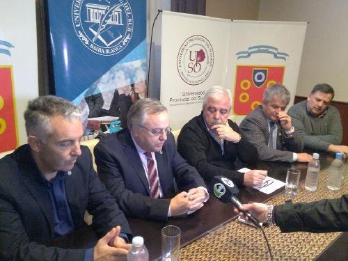 Autoridades de la UNS y la Upso con el intendente sobre la carrera de medicina en Pigüé