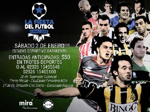 Fiesta del fútbol con estrellas del fútbol regional en Coronel Suárez.