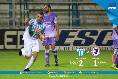 Nacional B - Martín Prost convirtió un gol para la victoria de Juventud Unida ante Dálmine.