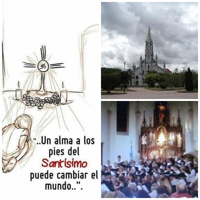 """Parroquia Ntra. Sra de Luján de Pigüé convoca a celebrar """"Hora Santa en comunidad"""""""