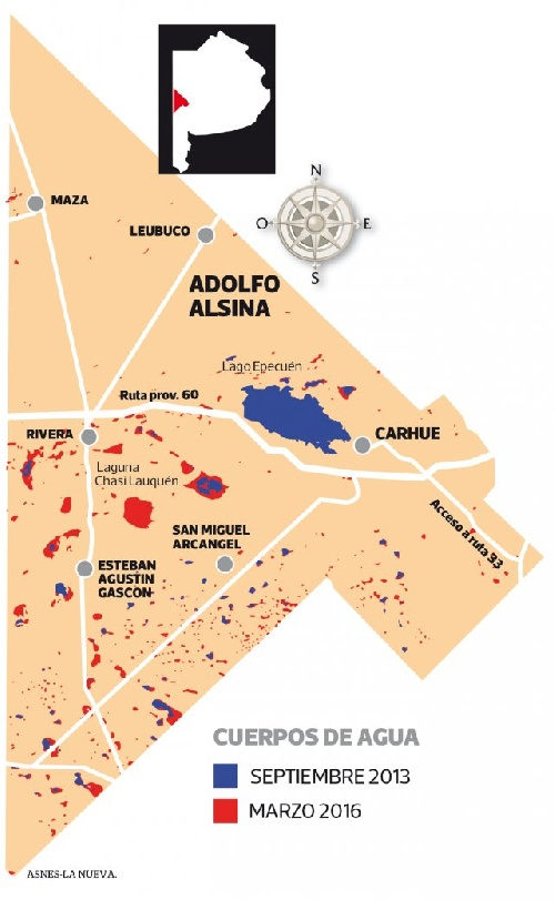 INUNDACIONES EN LA ZONA: En poco más de dos años más del doble de agua en Adolfo Alsina