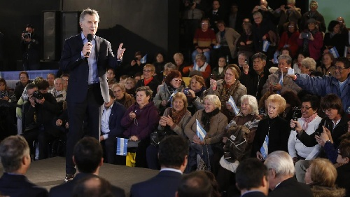 El presidente Macri anunció un proyecto de ley para pagar juicios de jubilados,una pensión universal a la vejez,el aumento de haberes mal liquidados