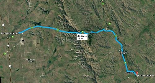 Tornquist: Solicitan circular con precaución sobre Ruta Provincial  N°76 en zona del Abra de la Venta