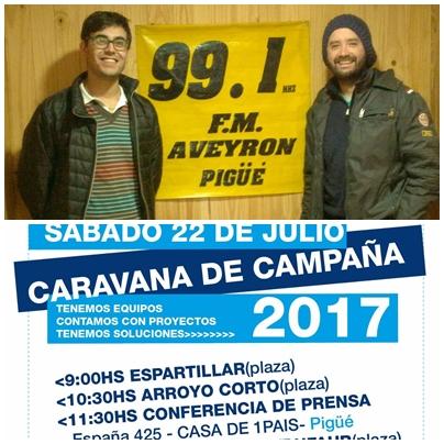 1PAIS Matias Nebot y Emmanuel Clair anunciaron en Pigüé el acto y caravanas en los pueblos