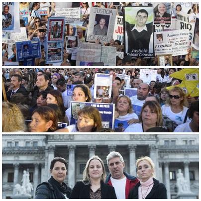Reclamo contra la impunidad -Multitudinaria marcha #ParaQueNoTePase convocada por familiares y víctimas de delitos