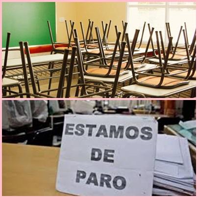 El primer dia del paro docente en Pigüé y el Distrito