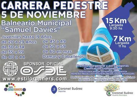 Habrá un nutrido grupo de atletas locales en la Carrera pedestre de Coronel Suárez.