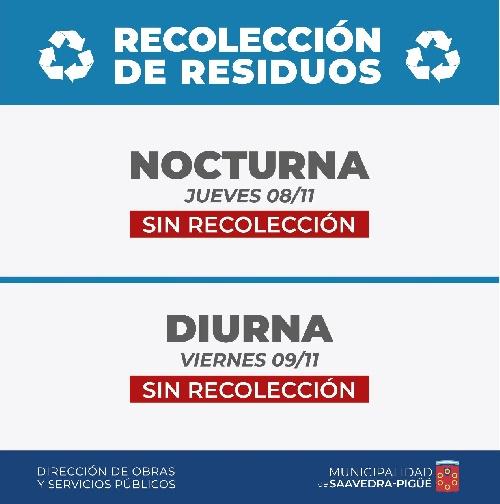 Sin recolección domiciliaria de residuos