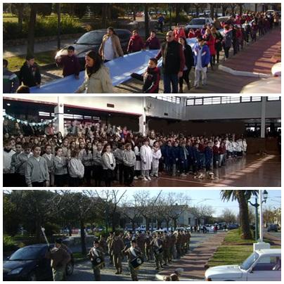 Pigüé: Desfile y jura de fidelidad a la bandera