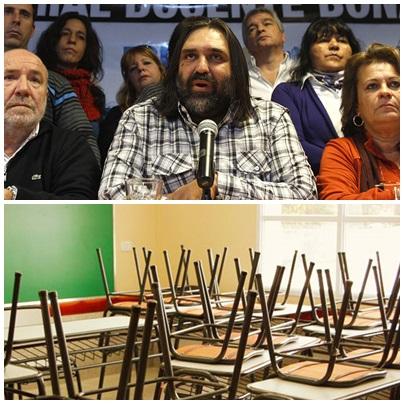 Nuevo paro docente de 48 horas, llegarán al récord de 26 dias sin clases normalmente en Pcia de Buenos Aires