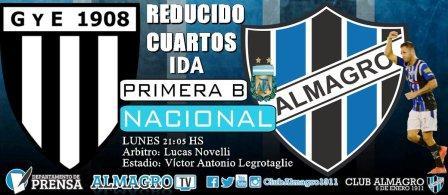 Nacional B - Almagro entrenó en su estadio y tiene todo listo para su viaje a Mendoza.