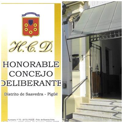 DÉCIMA SEGUNDA SESIÓN ORDINARIA DEL CONCEJO DELIBERANTE DEL PARTIDO DE SAAVEDRA - PIGUE