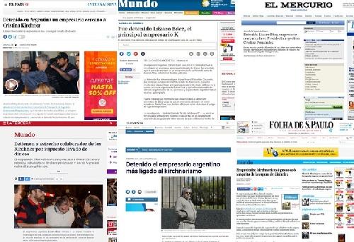 Los medios internacionales hablaron de la relación de Báez con los Kirchner