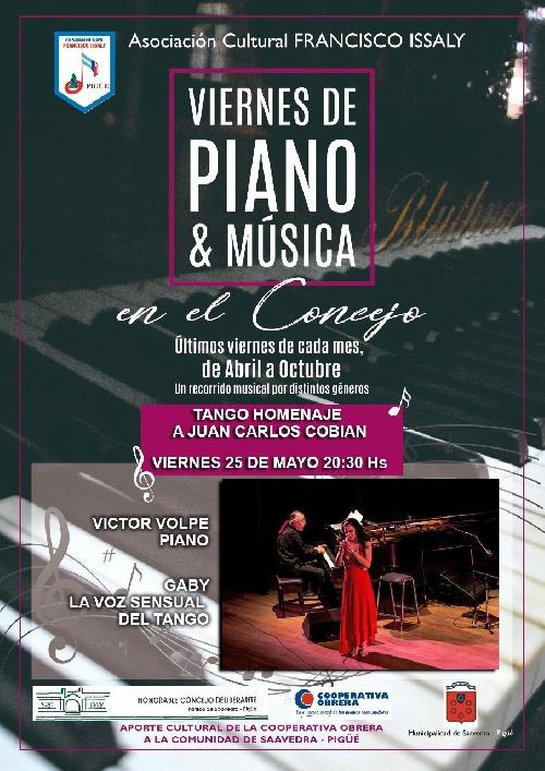 Viernes de Piano y Música en el Concejo : Homenaje a Juan Carlos Cobián