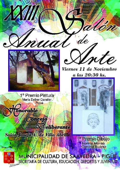 Pigüé: Inauguracion del Salon Anual de Arte