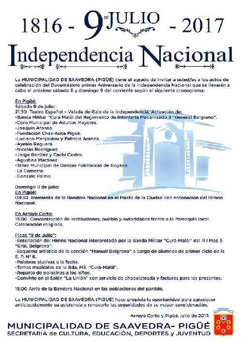 Actos Oficiales de Celebración del Ducentésimo Aniversario de la Declaración de la Independencia de la Patria