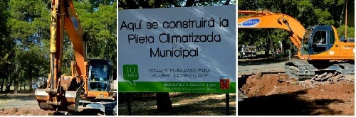 12 millones de pesos  de presupuesto para la pileta climatizada en el Parque Municipal de Pigüé