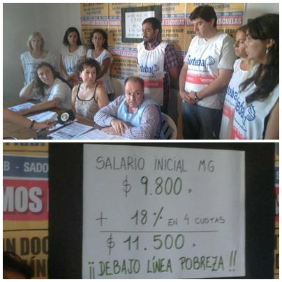 Los sindicalistas docentes locales de FEB SUTEBA y SADOP reafirmaron que reclaman un 35% de incremento