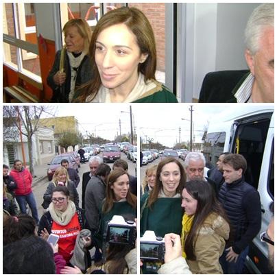 La gobernadora bonaerense, María Eugenia Vidal, visitó Puan, Pigüé y Tornquist