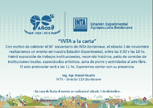 El INTA Bordenave cumple 90 años