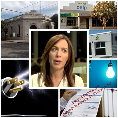 """Bien por  la Gobernadora Vidal : 1ero. quitó  15,7%  de impuestos  pciales y ahora resolvió """"que se descuelgen"""" otros servicios de la factura de luz"""