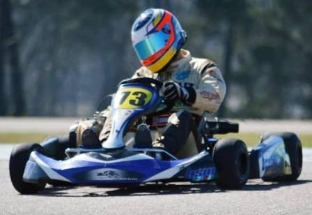Karting - Fernando Gómez Fredes 3° en Viedma.
