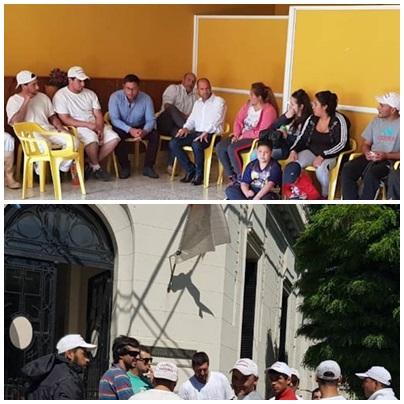 Reclamo de trabajadores y empresarios del  feed lot y el Frigorifico Saavedra  motivó reunión con el  gobierno municipal