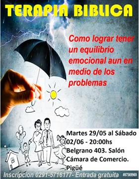 Invitacion abierta a toda la comunidad de la IGLESIA ADVENTISTA DEL 7MO DÍA  de Pigüé