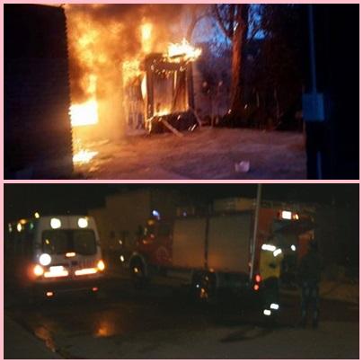 Pigüé: daños materiales totales,en el incendio de una vivienda en calle Washington