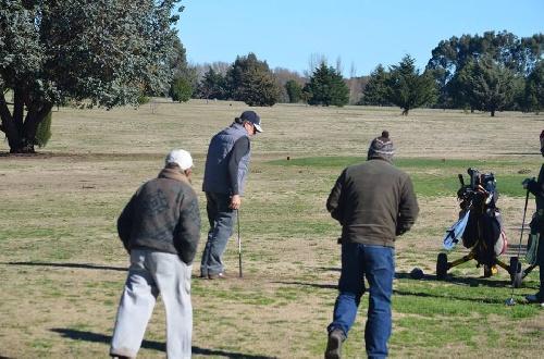 Golf - Juani Tigri y Horacio Meder los ganadores de ayer en el Pigüé Golf.