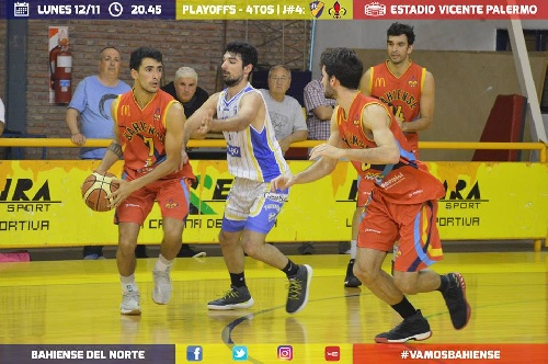 Basquet Bahiense - Esteban Silva encestó 10 puntos en el 4° juego ante Pueyrredon.