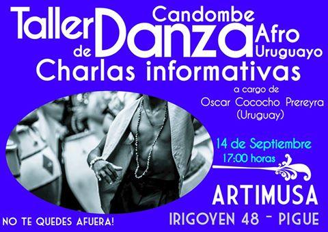 Artimusa propone un taller de danzas afro con el uruguayo oscar Cococho Prereyra