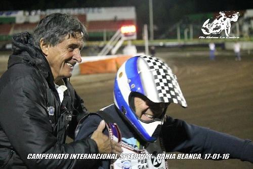 Speedway 200 cc - Antonio Di Felice presente en Aldea Romana.
