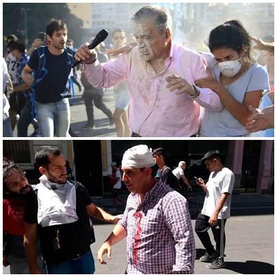 Violentas agresiones a varios periodistas de distintos medios por grupos de manifestantes en Plaza Congreso