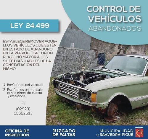 Inspección Municipal comenzó a retirar autos abandonados