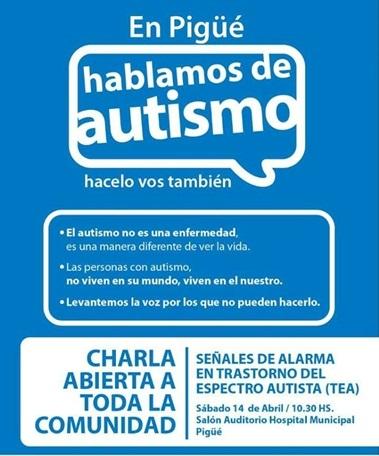 Charla abierta a toda la comunidad sobre Autismo