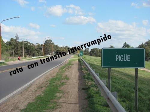Pigüé:  corte de tránsito en la Ruta Nacional 33