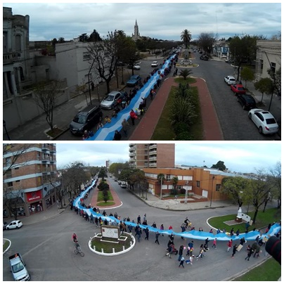 Multitudinaria marcha anti abortista  convocada por la Iglesia Católica de Pigüé