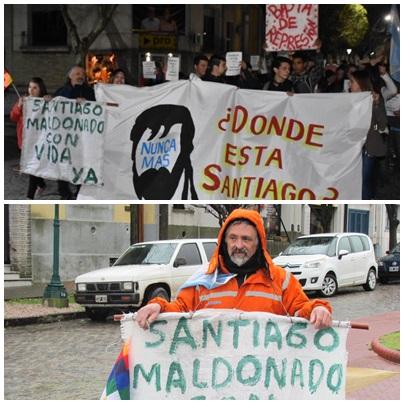 Se realizó una marcha por la aparición con vida de Maldonado en Pigüé - Antes habia manifestado Leguina