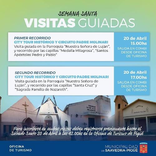 Visitas guiadas de Semana Santa en Pigüé